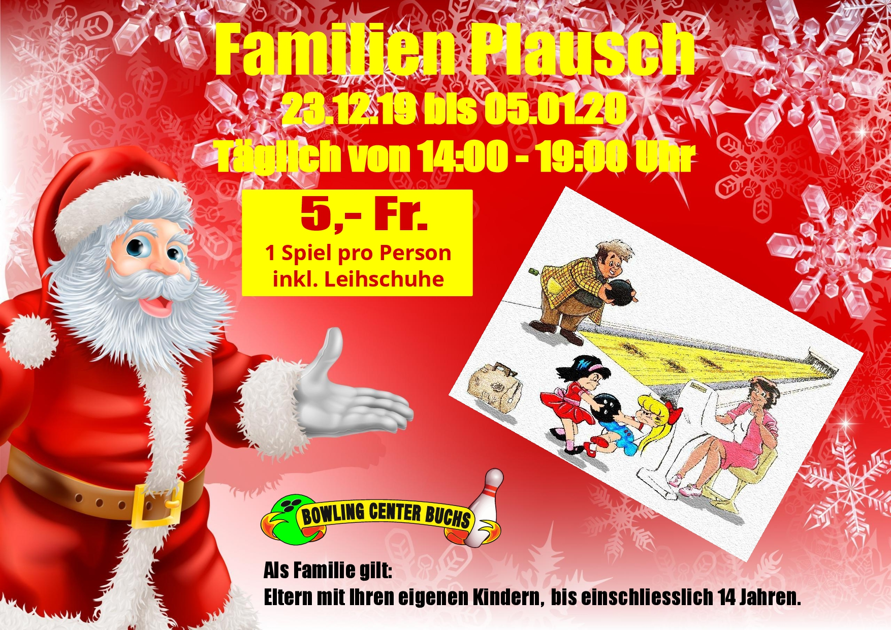 Familienplausch-Bwoling - Weihnachtsaktion